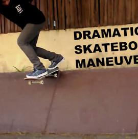 Dramatic Skateboard Maneuvers...