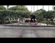 Felix & Friends Manny Santiago skateboarding Jkwon on a rainy day