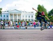 Game of Skate - przed białym domem
