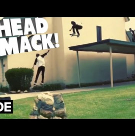 Head Smack Skateboarding off Roof - Tony Arias
