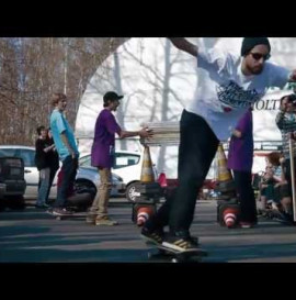 Highest hippie jump on skateboard