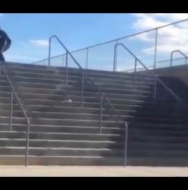 INSTABLAST! - BACKFLIP to FS ROCK!! Hesh Doubles Smith Grinds! Cop Skateboarding!