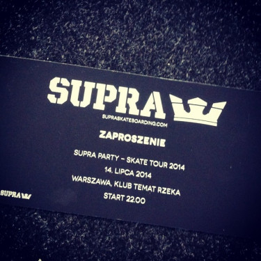 Konkurs - zdobądź zaproszenia na after party z ekipą Supra !!!
