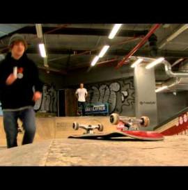Michał Mazur na skateparku Kamuflage