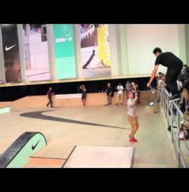 Nike SB team riders demo in China