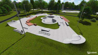 Nowy betonowy skatepark dla Warszawy