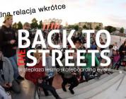 Oficjalna relacja z Back To The Streets wkrótce