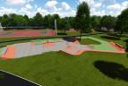 Park Jordana  - koncepcja skateparku.