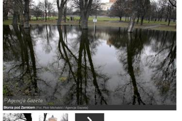 Skate plaza pod zamkiem w Lublinie.