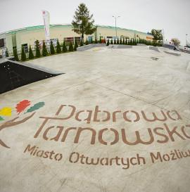 Skatepark w Dąbrowie Tarnowskiej.