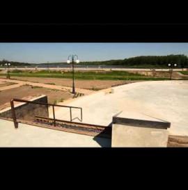 Skatepark w Wąchocku w trakcie budowy
