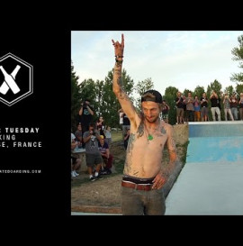 SUPRA TWO FOR TUESDAY: Lizard King giant channel ollie in Toulouse