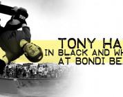 Tony Hawk in B&W at Bondi Beach