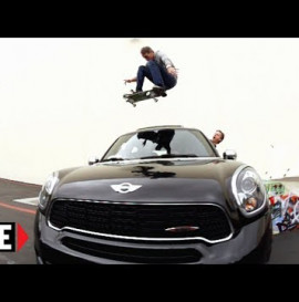 Tony Hawk Jumps Over His MINI Cooper Countryman