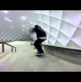 Winter lines at skatepark-rzeszow
