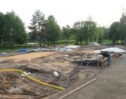 Wood Camp skate plaza - postępy prac.