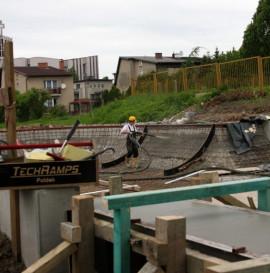 Betonowy skatepark w Radzionkowie - foto z budowy