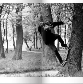 """Dzisiejsze """"Skejt Foto"""" Ksu na drzewie"""