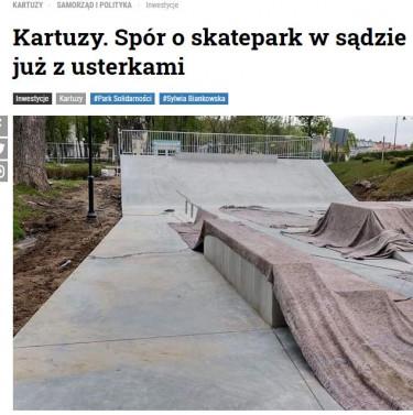 Kartuzy skatepark Bubel sądowy