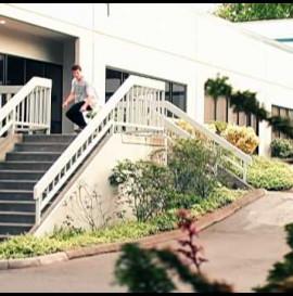 Kickflip over 11 Stair Rail   Ben Eisenberg