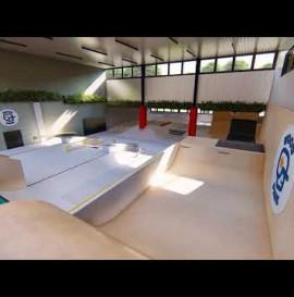 Kryty betonowy skatepark w Warszawie - WoodPark
