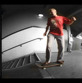 OLD MAN FALLS OFF SKATEBOARD DOWN STAIRS CLASSIC SLAM