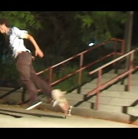 Skateboarder Breaks Board With Sphincter