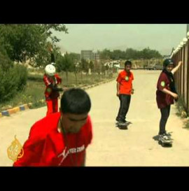 Skateboarders in Afghanistan take to the streets