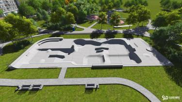 Skatepark dla Grodziska - nowy projekt Slo Concept