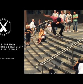 SUPRA TWO FOR TUESDAY: BOO JOHNSON HARDFLIPS MARTINS PLACE, SYDNEY