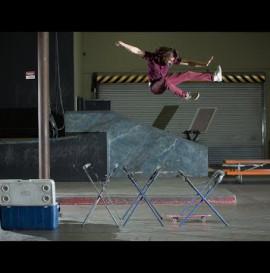 The Real Spiderman Skateboarding